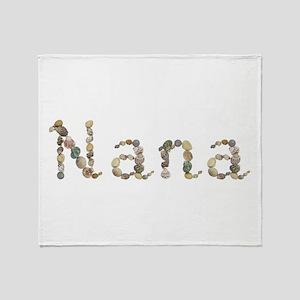 Nana Seashells Throw Blanket