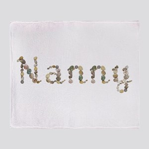 Nanny Seashells Throw Blanket