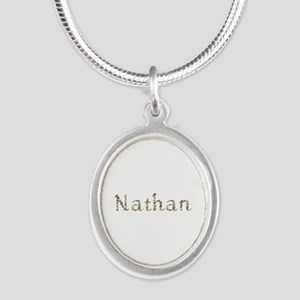 Nathan Seashells Silver Oval Necklace