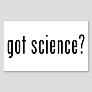 got science? Rectangle Sticker