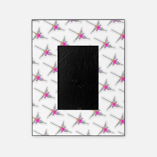 Nazca Lines Hummingbird Pattern Picture Frame