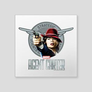 "Agent Carter SSR Square Sticker 3"" x 3"""