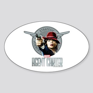 Agent Carter SSR Sticker (Oval)