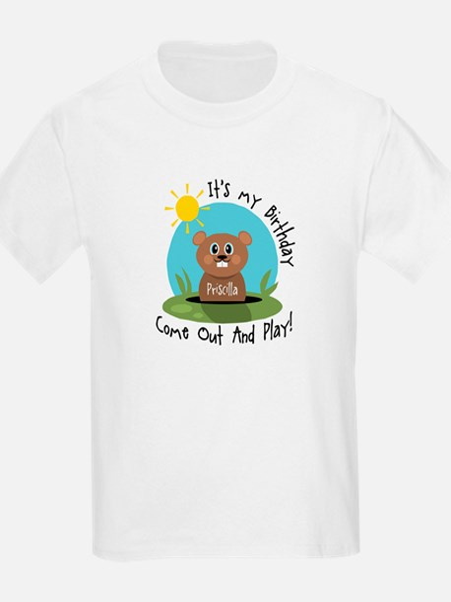 Priscilla birthday (groundhog T-Shirt