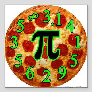 "Pizza Pi Square Car Magnet 3"" x 3"""