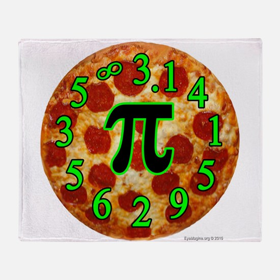 Pizza Pi Throw Blanket