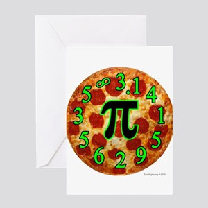 Pizza Pi Greeting Cards