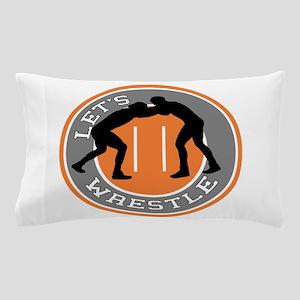 Let's Wrestle Pillow Case