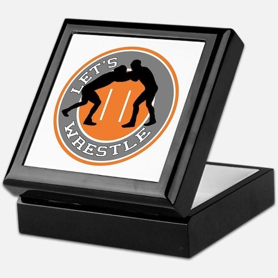 Let's Wrestle Keepsake Box