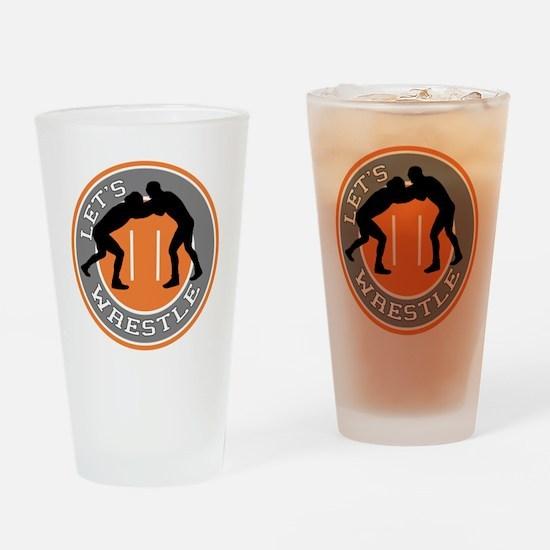 Let's Wrestle Drinking Glass
