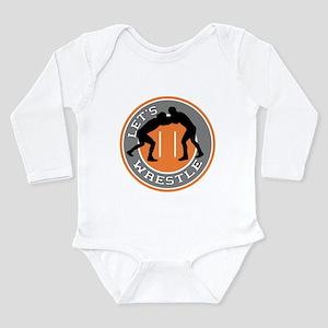 Let's Wrestle Long Sleeve Infant Bodysuit
