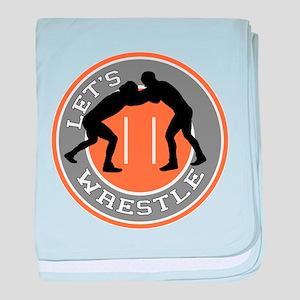 Let's Wrestle baby blanket