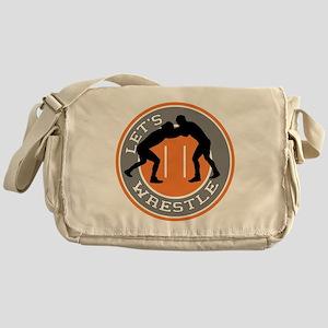 Let's Wrestle Messenger Bag