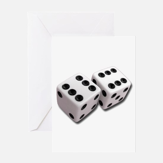 Lucky Dice Greeting Cards
