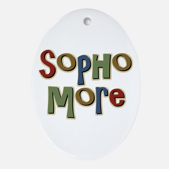 Sophomore Second Year School Oval Ornament