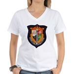USS JOHN C. CALHOUN Women's V-Neck T-Shirt
