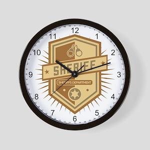 Sheriff Crest Wall Clock