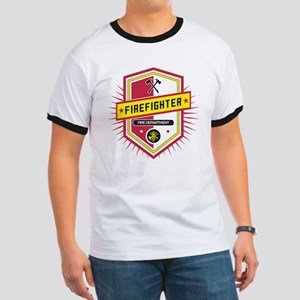Firefighters Crest Ringer T
