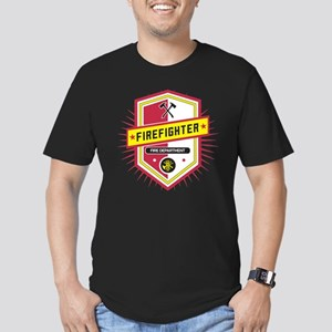 Firefighters Crest Men's Fitted T-Shirt (dark)