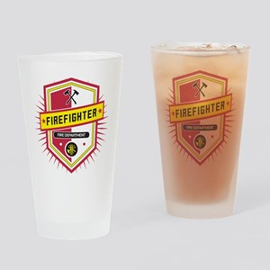 Firefighters Crest Drinking Glass