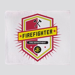 Firefighters Crest Throw Blanket
