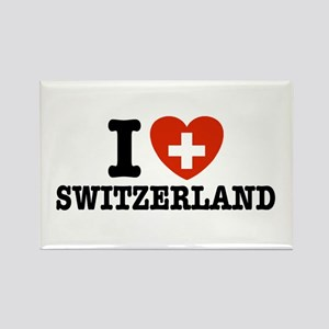 I Love Switzerland Rectangle Magnet
