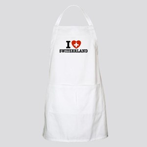 I Love Switzerland BBQ Apron