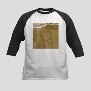 Mickey Beach Love Kids Baseball Jersey
