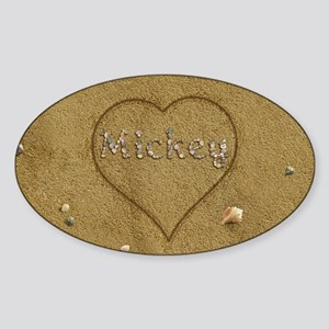 Mickey Beach Love Sticker (Oval)