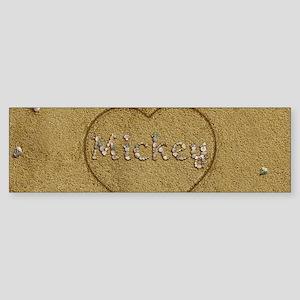 Mickey Beach Love Sticker (Bumper)