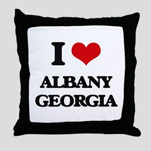 I love Albany Georgia Throw Pillow