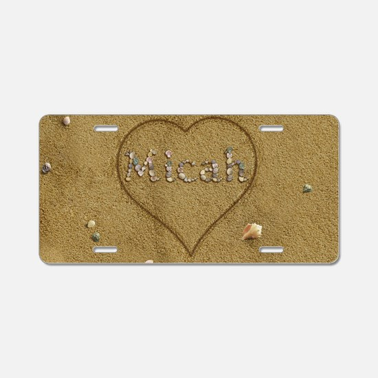 Micah Beach Love Aluminum License Plate