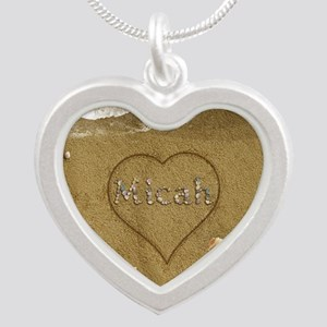 Micah Beach Love Silver Heart Necklace