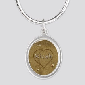 Micah Beach Love Silver Oval Necklace