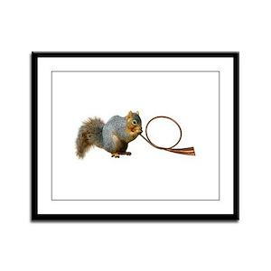 Squirrel Horn Framed Panel Print