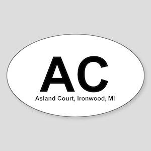 Ashland Court Oval Sticker