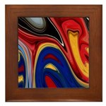 Native American Celebration Framed Tile