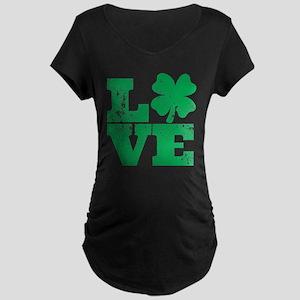 Love Clover Maternity Dark T-Shirt