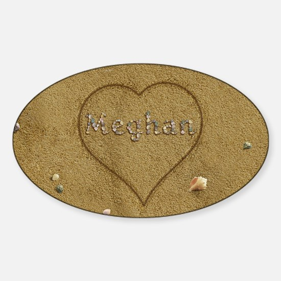 Meghan Beach Love Sticker (Oval)