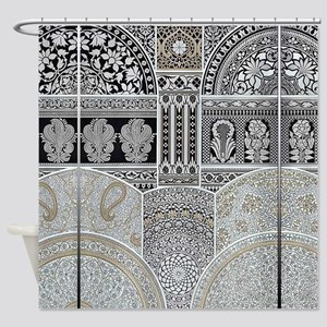 Ornamental Abstract Design Pattern Shower Curtain