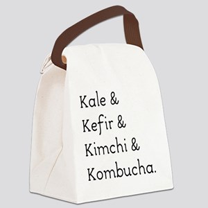 Kale Kefir Kimchi And Kombucha Canvas Lunch Bag
