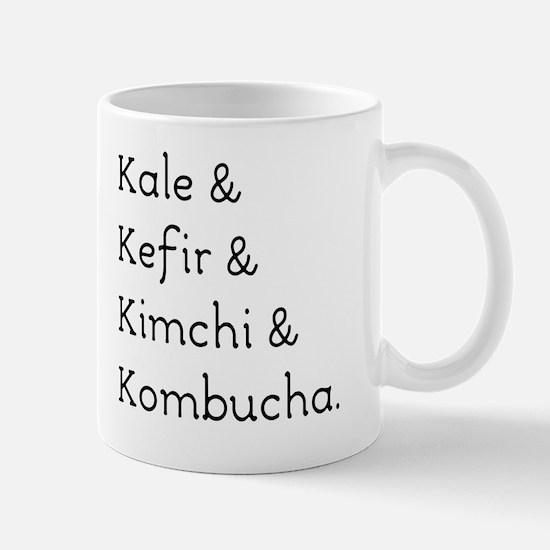 Kale Kefir Kimchi And Kombucha Mug