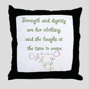 Proverbs 31 woman Throw Pillow