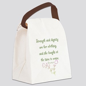 Proverbs 31 woman Canvas Lunch Bag