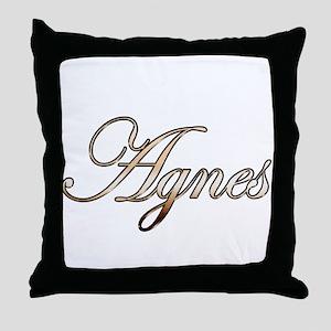 Gold Agnes Throw Pillow