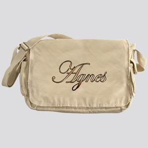 Gold Agnes Messenger Bag