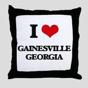 I love Gainesville Georgia Throw Pillow