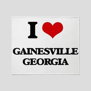 I love Gainesville Georgia Throw Blanket