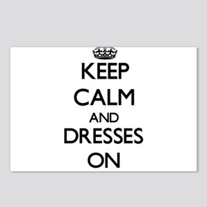 Keep Calm and Dresses ON Postcards (Package of 8)