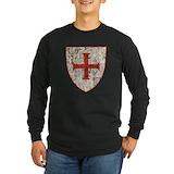 Knights templar Long Sleeve Dark T-Shirts